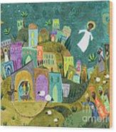 Nativity Three Wood Print