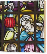 Nativity Window Wood Print