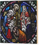 Nativity With Kings Wood Print
