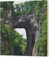 Natural Bridge In Rockbridge County Virginia Wood Print