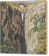 Natural Bridge, Valle Dicononzo Wood Print