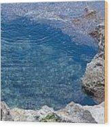 Natural Pool Of Seawater Wood Print