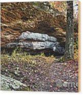 Natural Rock Bridge Wood Print