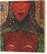 Natural Warrior Goddess Wood Print by Cynthia Hagenhoff