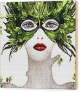 Natural Women Wood Print by Yosi Cupano