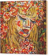 Nature Girl Wood Print