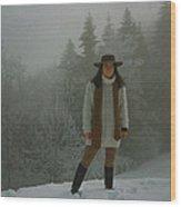 Nature Joy In The Swiss Alps Wood Print