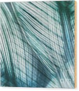 Nature Leaves Abstract In Turquoise And Jade Wood Print by Natalie Kinnear