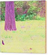 Nature Painting / Digital Art Wood Print