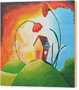Nature Spills Colour On My House Wood Print by Nirdesha Munasinghe