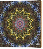 Naturel Star Wood Print
