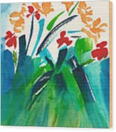 Natures Bouquet Abstract Wood Print