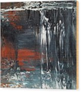 Natures Colours - Waterfall In The Sky Wood Print by Jan Lowe