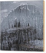 Natures Frozen Cathedral Sculpture Wood Print