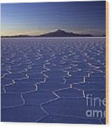 Natures Geometry Salar De Uyuni Wood Print