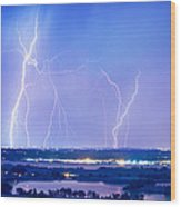Natures Light Show Over The Boulder Reservoir  Wood Print by James BO  Insogna