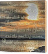 Natures Melody With Text Wood Print