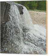 Natures Water Fountain Wood Print