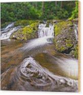 Nature's Water Slide Tilt Shift Wood Print