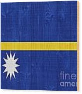 Nauru Flag Wood Print