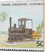 Nauru Island Stamp Wood Print