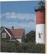 Nauset Light Wood Print