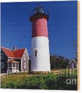Nausett Lighthouse Wood Print