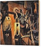 Nautical - Boat - Block And Tackle  Wood Print