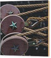Nautical Ties Wood Print