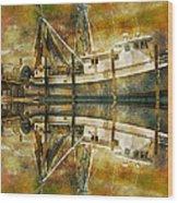 Nautical Timepiece Wood Print
