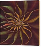 Nautilus Fractalus Tropical Wood Print