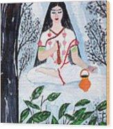 Nava Durga Brahmacharini Wood Print by Pratyasha Nithin
