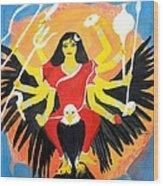 Nava Durga Chandraghanta Wood Print by Pratyasha Nithin