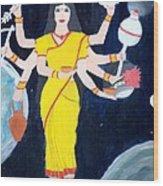 Nava Durga Kusmaanda Wood Print by Pratyasha Nithin