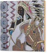 Navajo 02 Wood Print