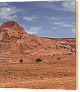 Navajo Nation Series Along Arizona Highways Wood Print