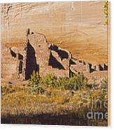 Navajo Ruins Wood Print