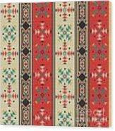 Navajo Style Pattern Wood Print