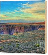 Navajo Sunset Wood Print