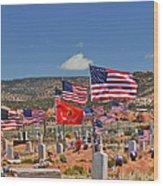 Navajo Veteran's Memorial Cemetery Tsehootsooi Wood Print
