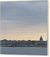 Naval Academy By Day Panorama Wood Print
