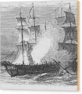 Naval Battle, 1779 Wood Print