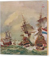 Naval Battle Off Texel A French Fleet Wood Print