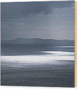 Naval Ship In The Ocean, Baie De Wood Print