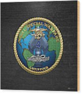 Naval Special Warfare Group Four - N S W G-4 - On Black Wood Print