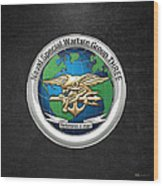 Naval Special Warfare Group Three - Nswg-3 - On Black Wood Print