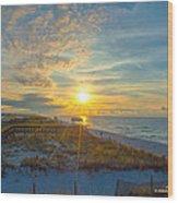 Navarre Beach Sunrise 2014 09 26 01 C 0650 Wood Print