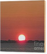 Navarre Beach Sunset Wood Print
