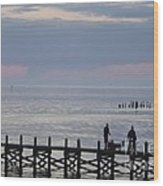 Navarre Beach Sunset Pier 10 Wood Print
