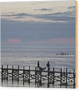 Navarre Beach Sunset Pier 11 Wood Print